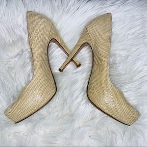 BCBG Paeyton Beige/Tan Heels Size 7